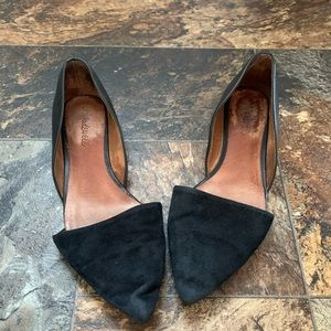 Madewell Flats size 8.5 black pointed toe leather